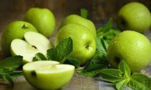 рецепт десерта из яблок и мяты