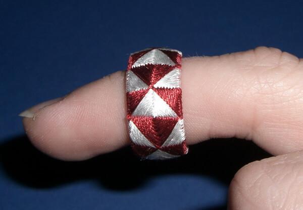 декоративный наперсток на пальце
