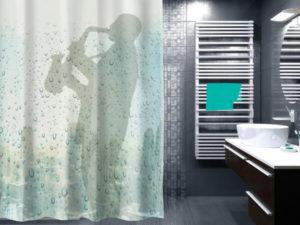 шторка в ванную с забавным принтом