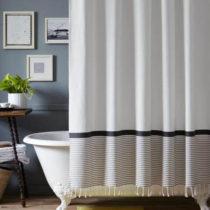 шторка из текстиля для ванной