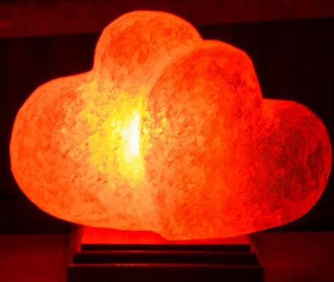 солевая лампа в виде сердца