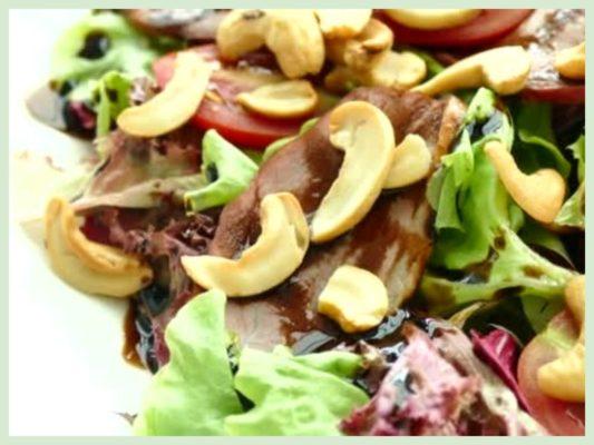 вкусные ореховые салаты с кешью