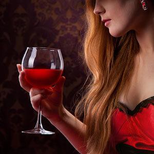угостите волосы вином