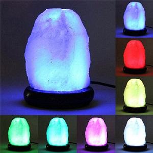 разноцветные соляные лампы
