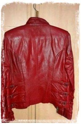 как гладить куртку из кожи