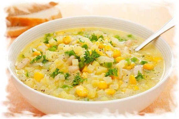 суп из кукурузы с овощами