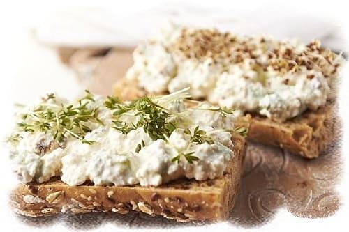 диетические бутерброды с творогом