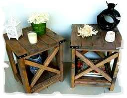 деревянная мебель в деревенском стиле