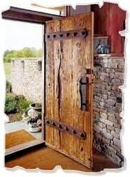деревянные двери в стиле рустик