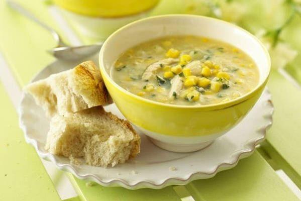 кукурузный суп с курицей