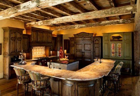 оформление кухни в стиле рустик