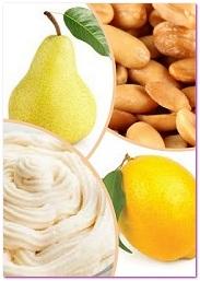 запеченные груши с лимоном, орехами и творожным сыром,