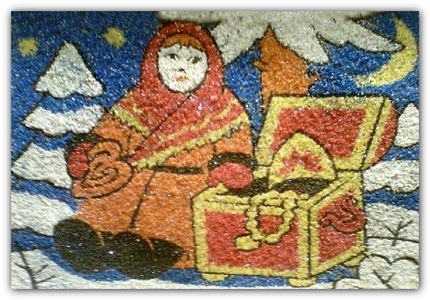 картина из цветной соли