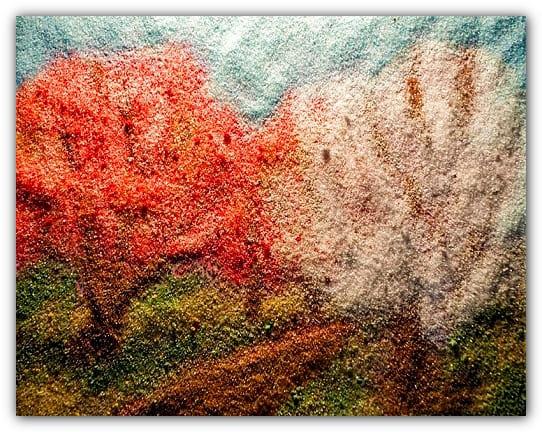 картины из крашеного песка