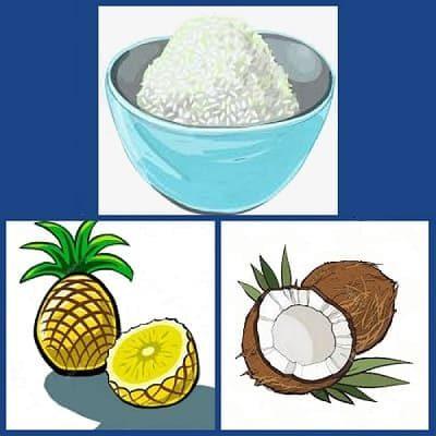 рис в мультиварке с кокосом и ананасом