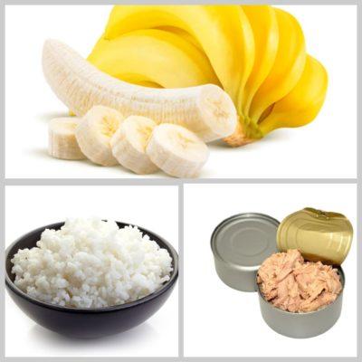 салат с бананами и рисом