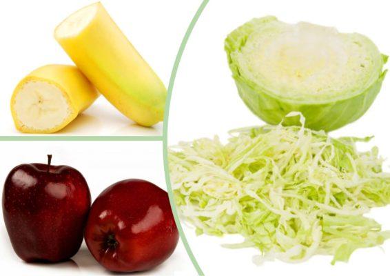 капустный салат с бананами