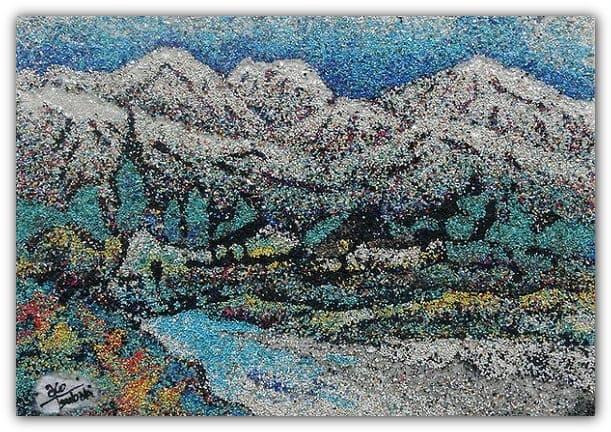 красивая картина из цветного песка