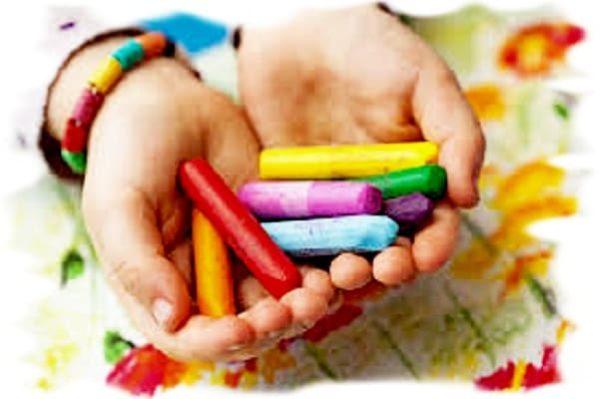 восковые карандаши, восковые мелки для творчества