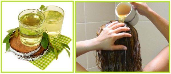 березовый отвар для ополаскивания волос