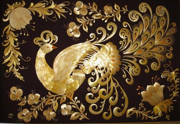 красивые картины из необычных материалов