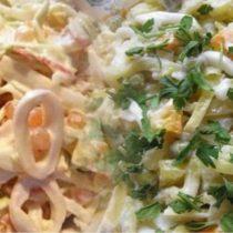 необычные салаты с кальмаром