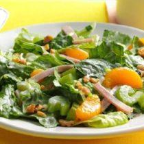 новогодний салат с апельсином, салат с апельсином и ветчиной