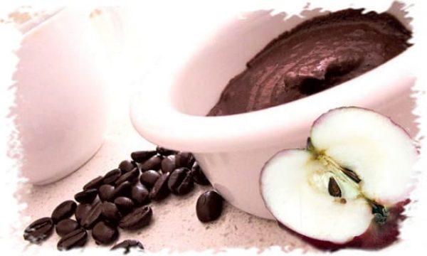 кофейная маска с яблоком под глаза