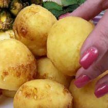 ананасовые пончики в микроволновке