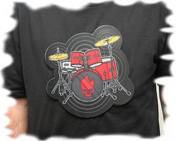 футболка с барабаном, музыкальная футболка, футболка для барабанщика