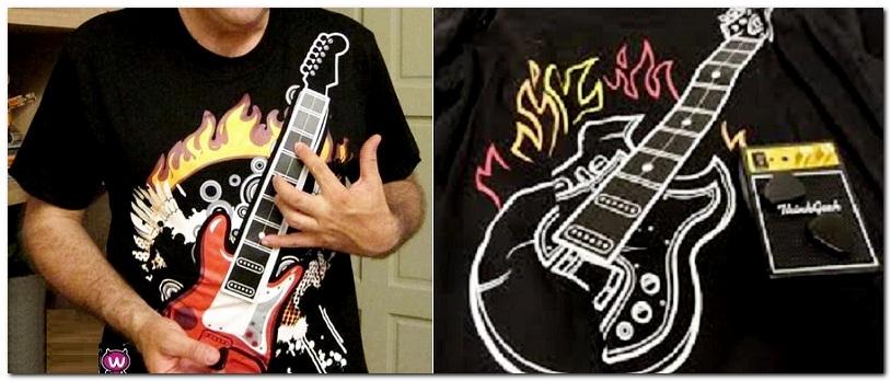 футболка с гитарой, музыкальная футболка, футболка для музыканта