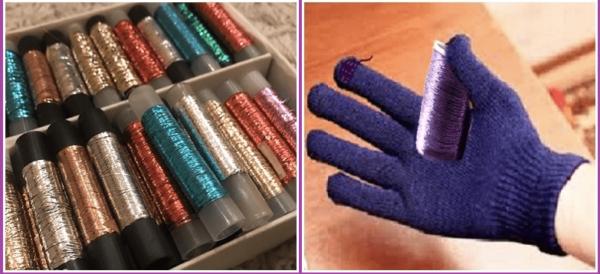 сенсорные перчатки с люрексной нитью, перчатки для сенсорных экранов