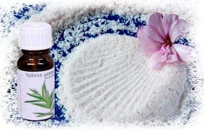 ванна с солью и маслом чайного дерева
