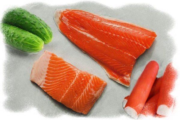 начинка в тарталетки с красной рыбой