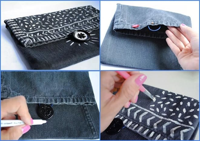 сумочка из джинсов