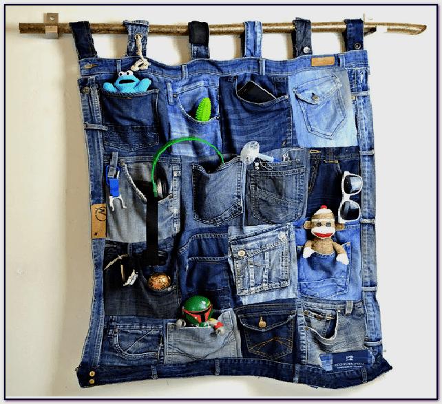 универсальный органайзер из джинсов