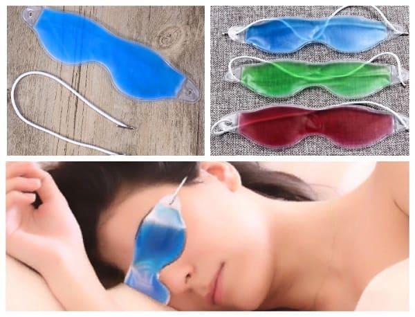 охлаждающая маска для глаз, охладиться в жару