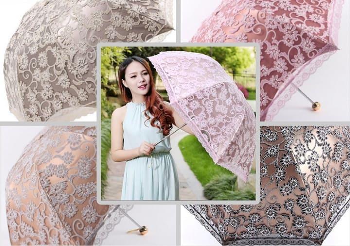 кружевной зонт, красивый летний зонт