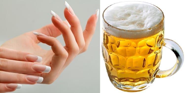 пивное укрепление ногтей