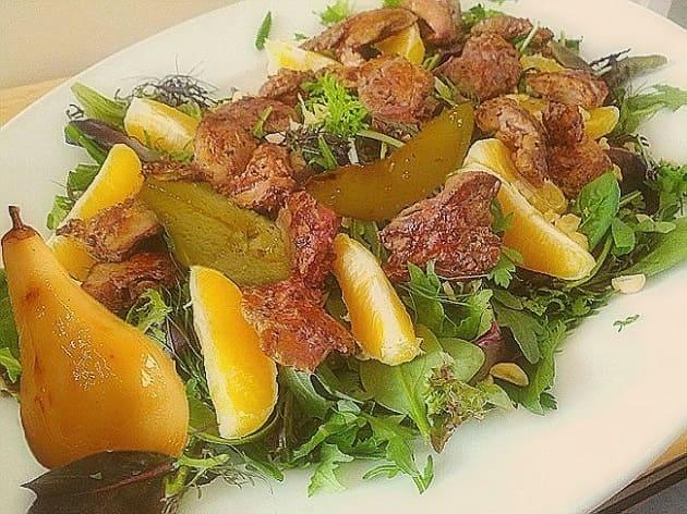 куриные салаты с фруктами