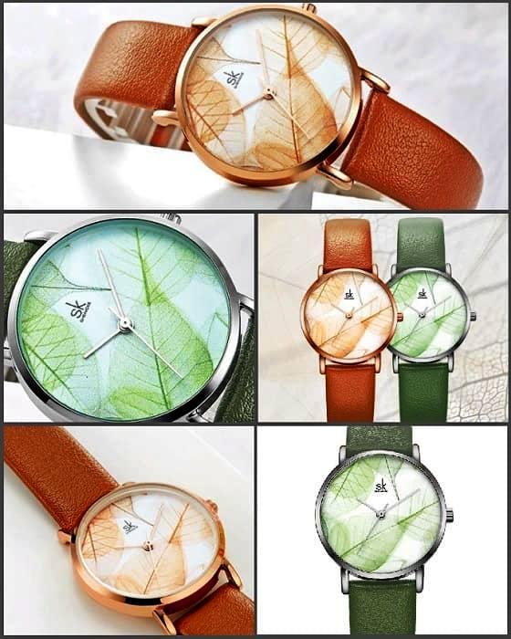 элегантные часы с осенним принтом