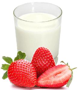 молочный компресс с клубникой, домашнее омоложение кожи