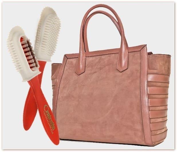 как чистить замшевую сумку