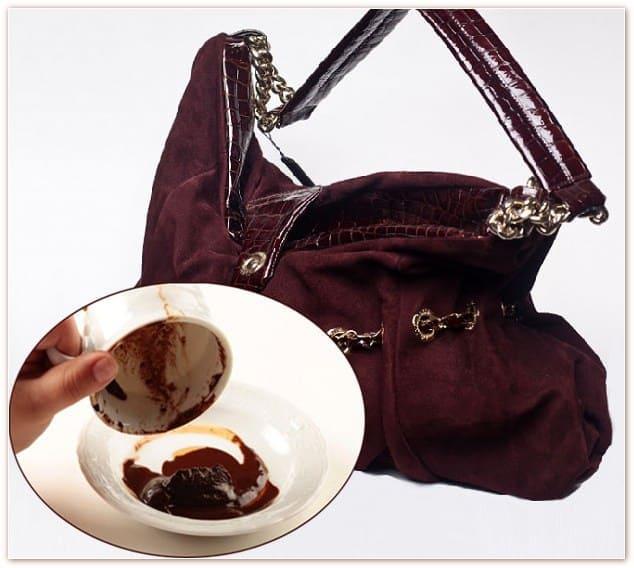 ручная стирка замшевой сумки