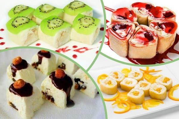десертные роллы на праздник
