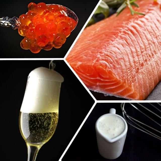 запеченная красная рыба в соусе из шампанского