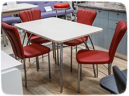 красные стулья для кухни