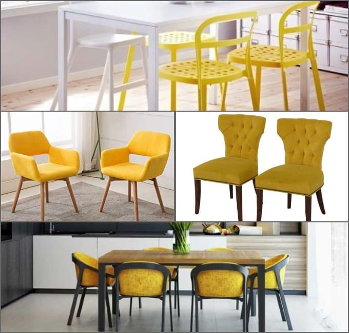 желтые стулья на кухню