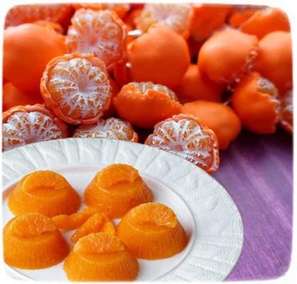 желе из цитрусов, желе из мандаринов, домашнее желе