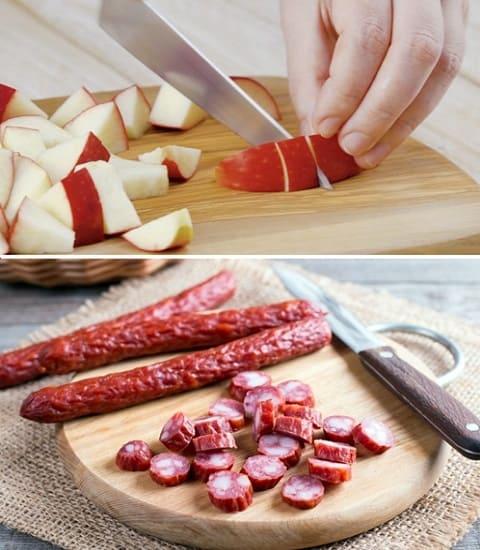 как приготовить охотничьи колбаски, запеченные колбаски